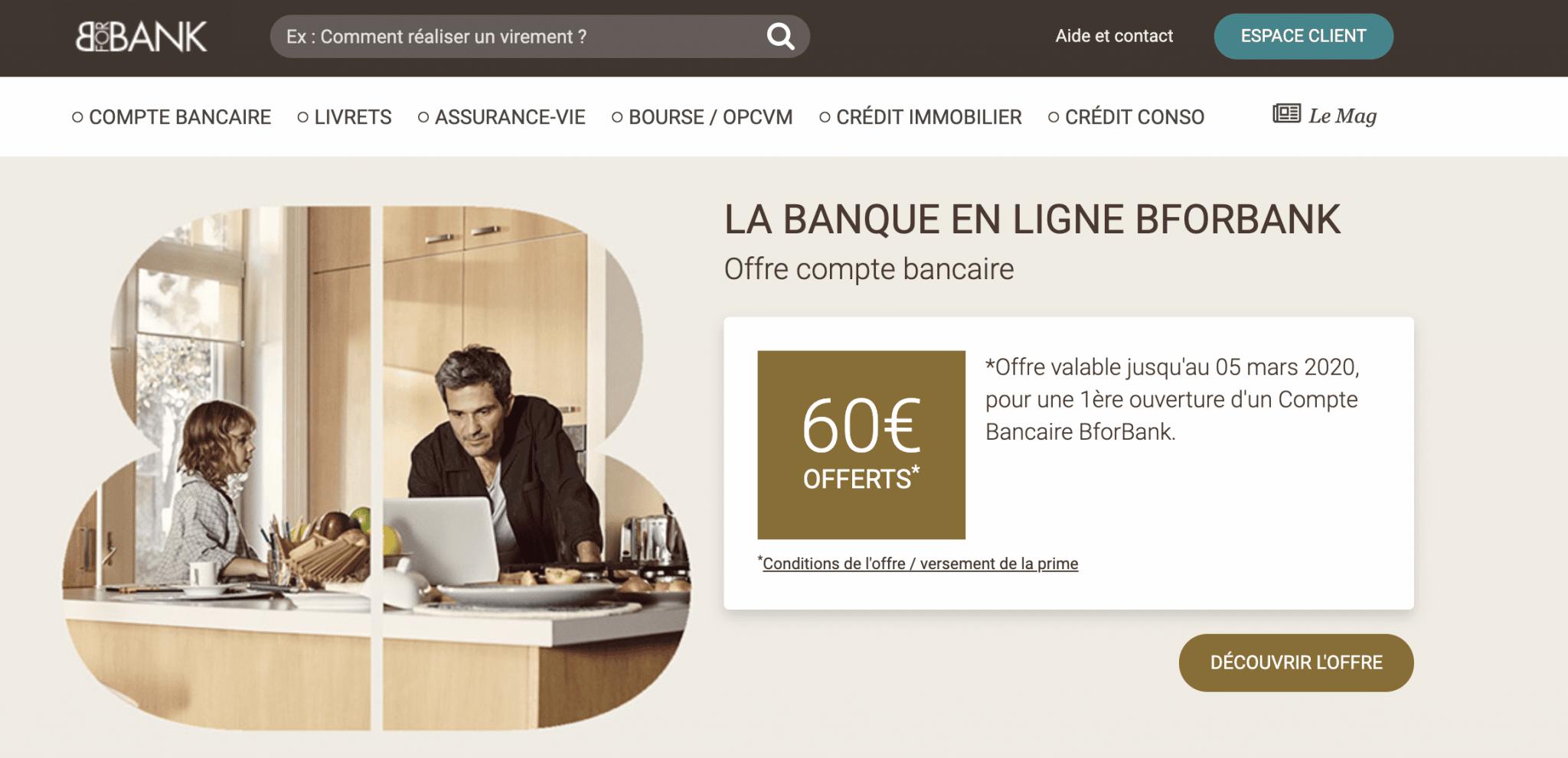La banque en ligne BforBank
