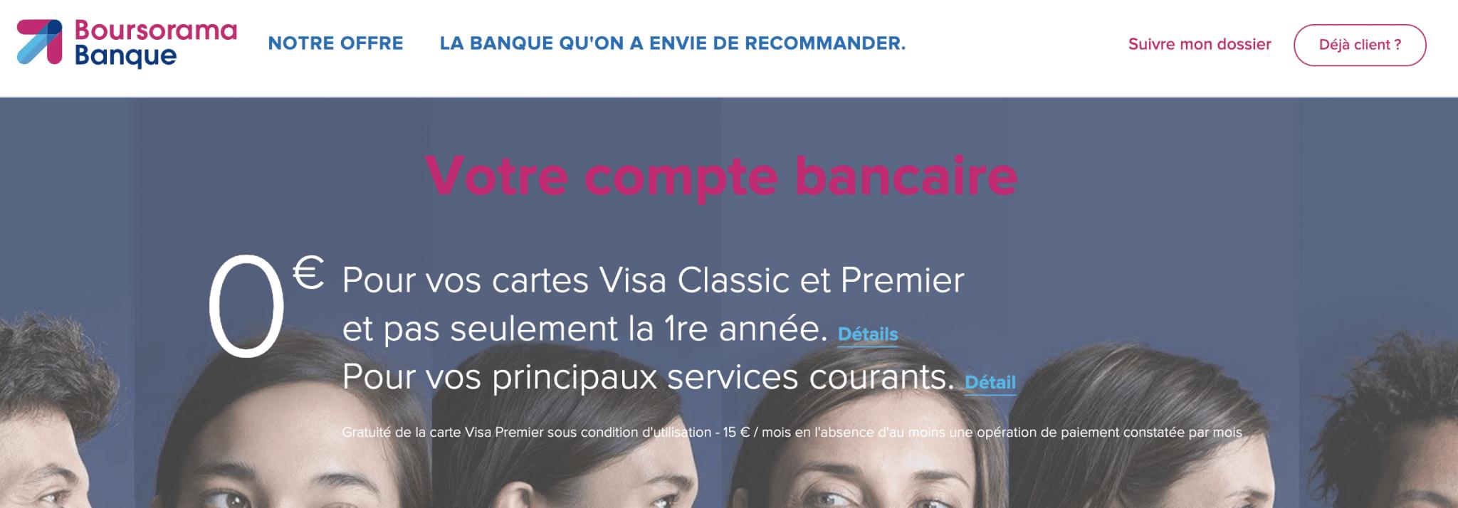La banque en ligne Boursorama Banque