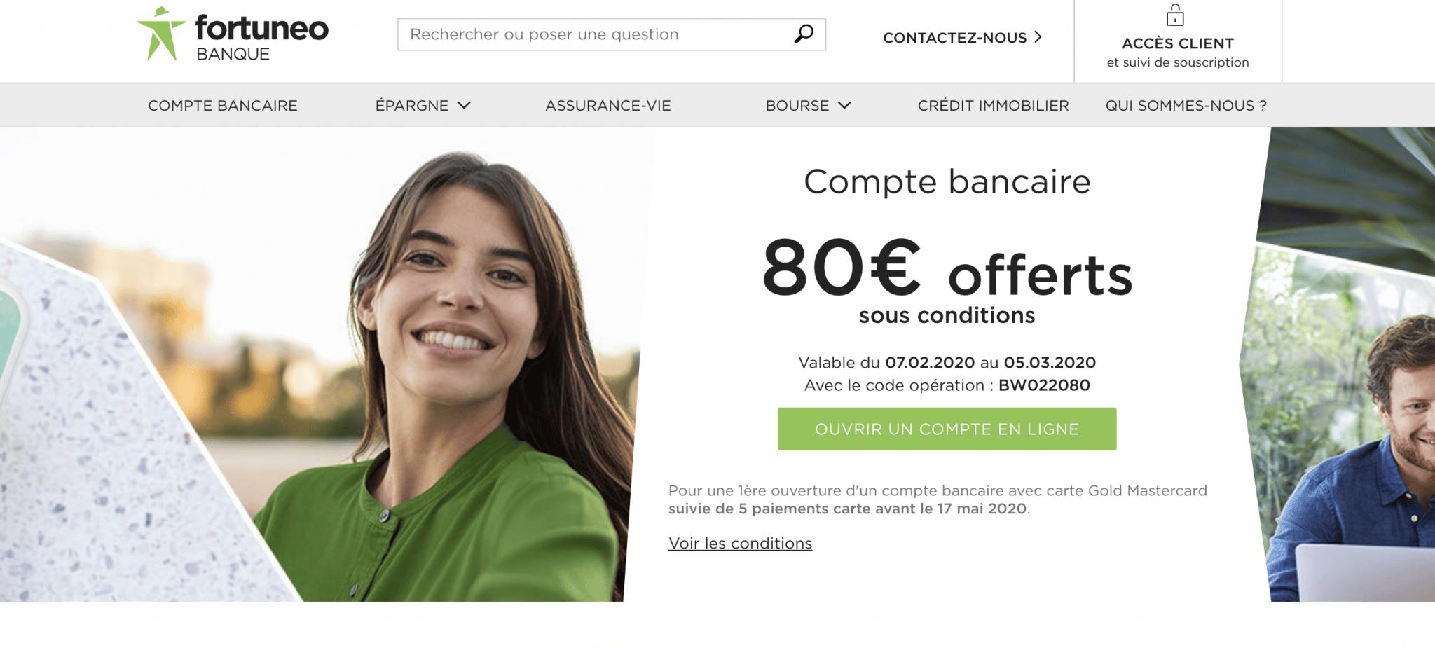 La banque en ligne Fortuneo