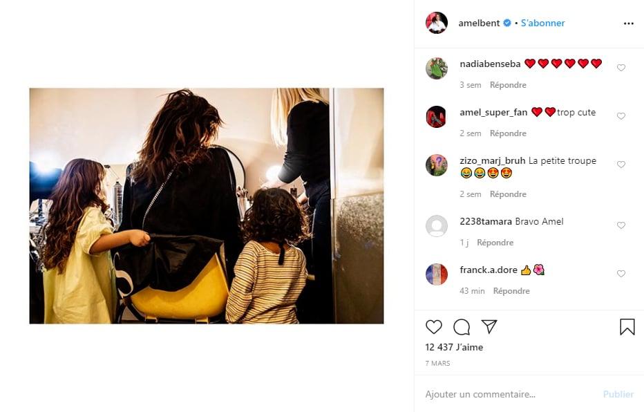 Amel Bent et ses filles