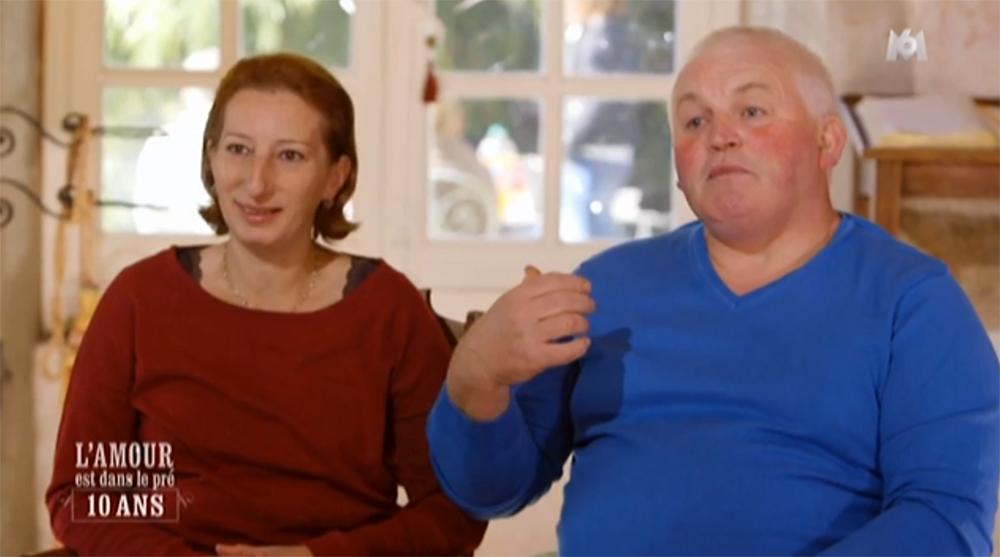 Annie et Thierry, couple de l'Amour est dans le Pré