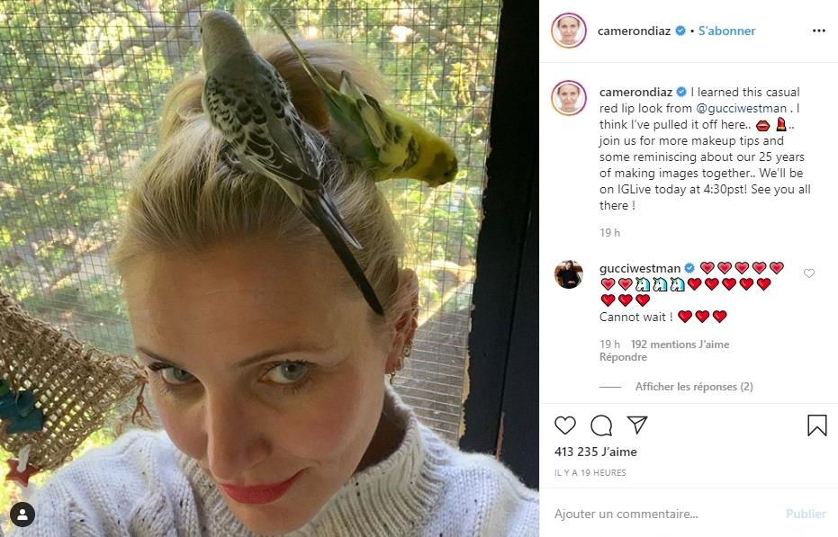 Cameron Diaz sur Instagram