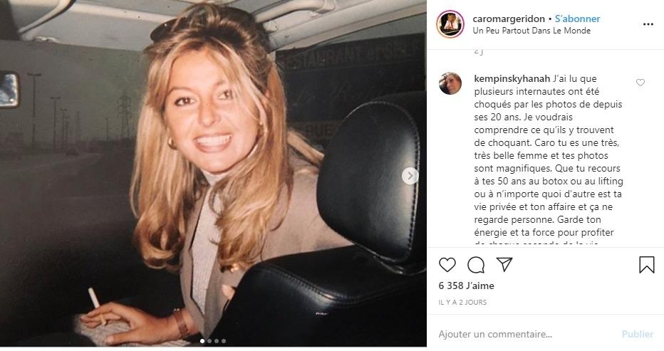 Caroline Margeridon à 20 ans