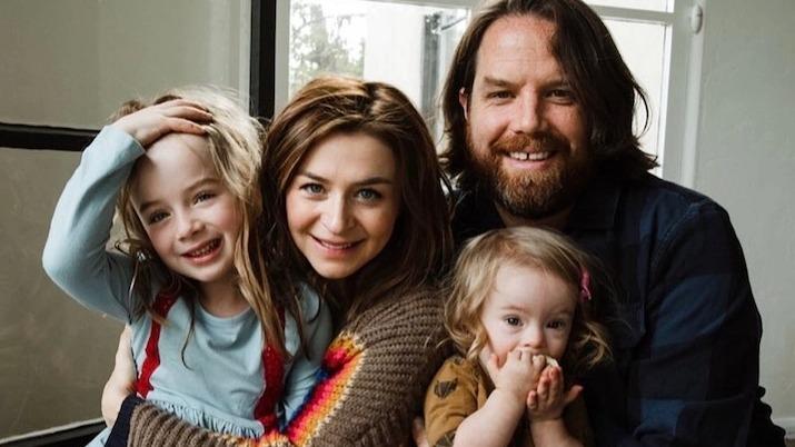 Caterina Scorsone et sa famille