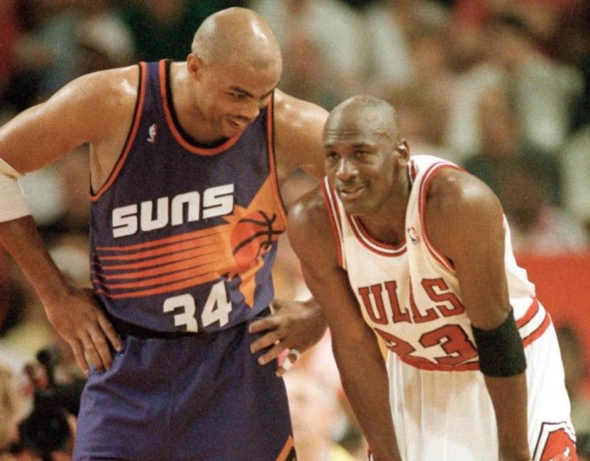 Charles Barkley et Michael Jordan