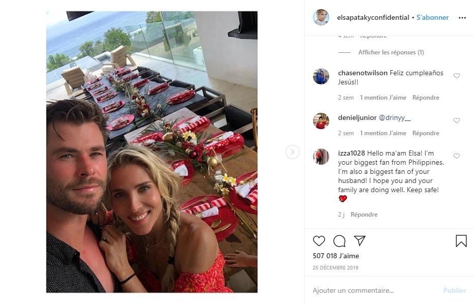 Chris Hemsworth et sa femme
