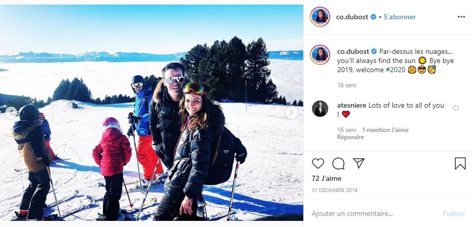 Coralie Dubost et Olivier Véran sur Instagram