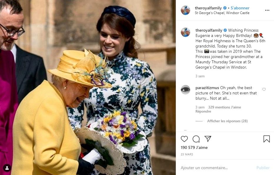 Elizabeth II et sa petite-fille
