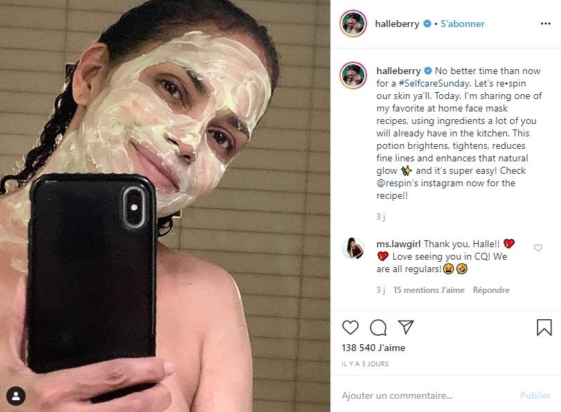 Halle Berry sur Instagram
