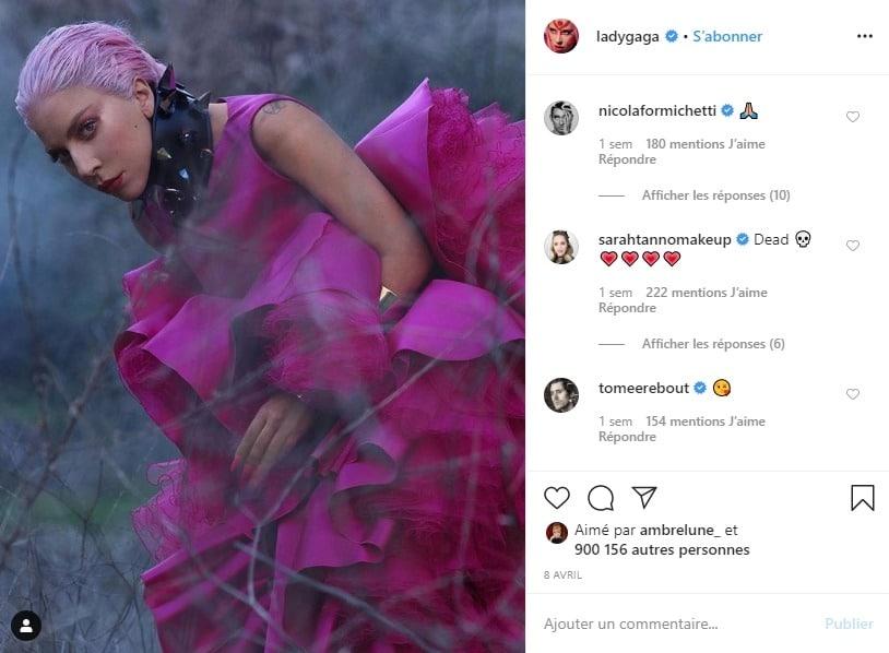 Lady Gaga sur Insstagram