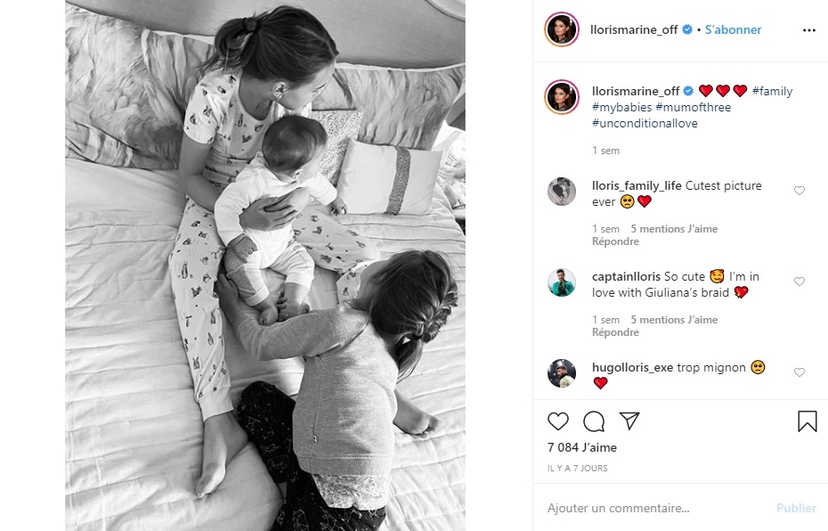 Les enfants d'Hugo Lloris sur Instagram