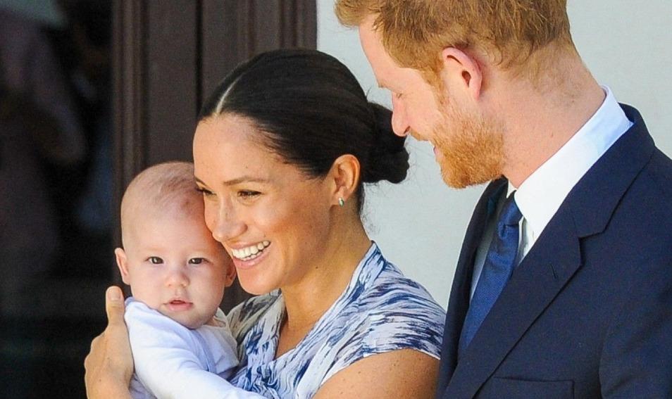 Meghan Markle et Harry avec leur bebe