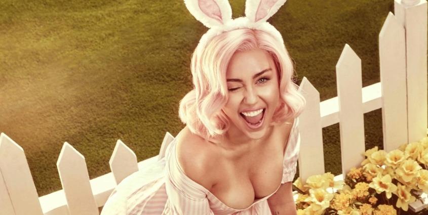 Miley Cyrus sexy pour Pâques