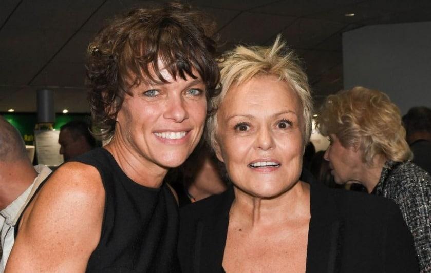 Muriel Robin et sa femme