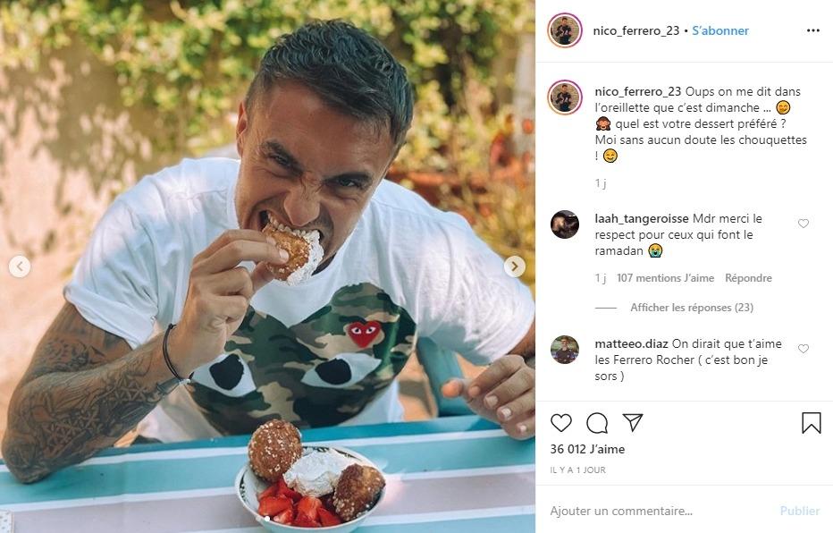 Nicolas sur Instagram