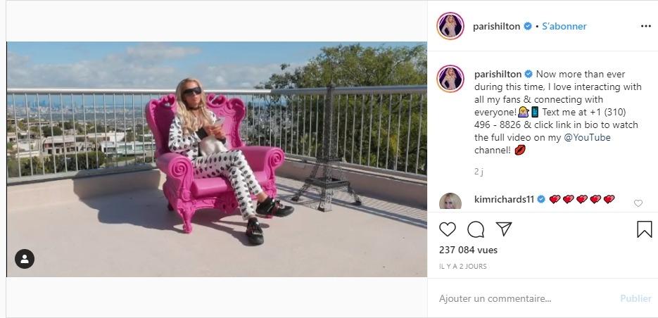 Paris Hilton de retour