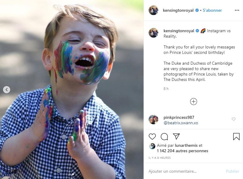Prince Louis sur Instagram