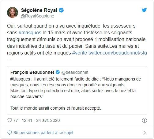 Ségolène Royal sur Twitter