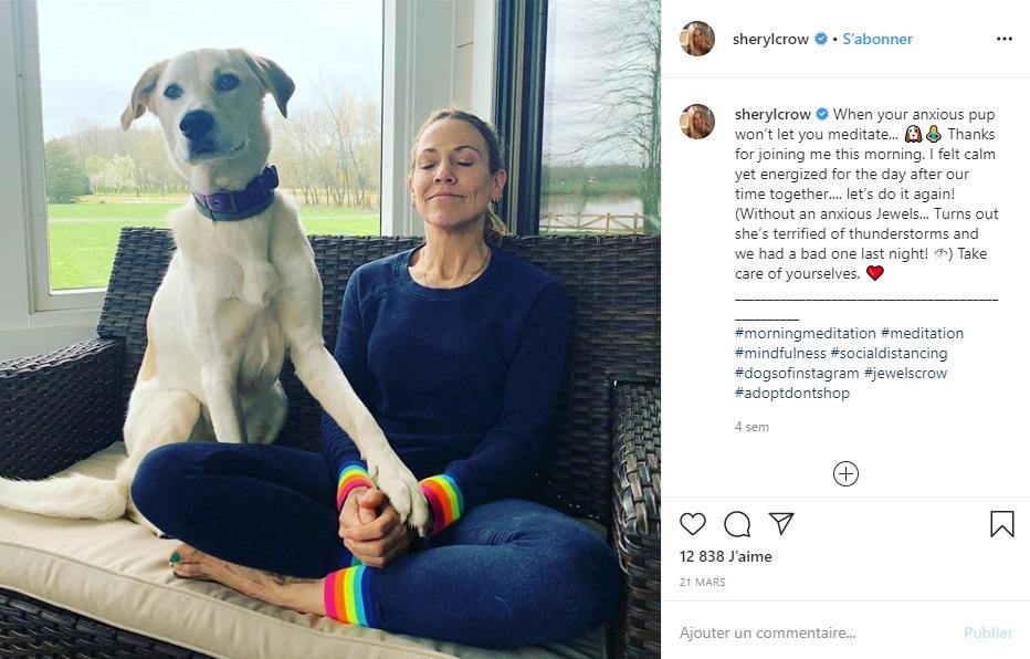 Sheryl Crow et son chien