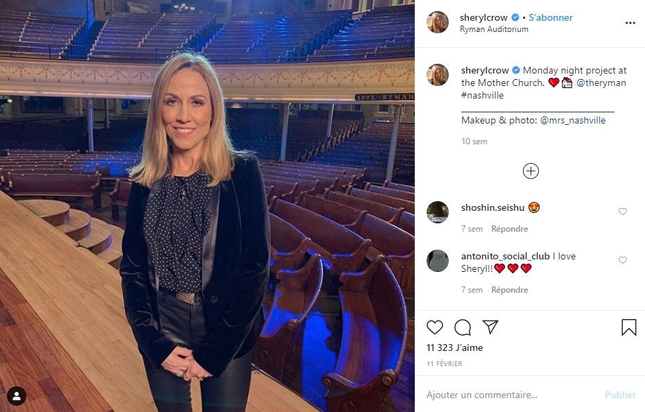 Sheryl Crow sur Instagram