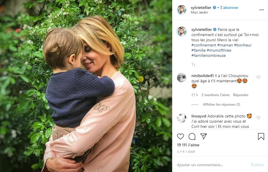 Sylvie Tellier et son fils