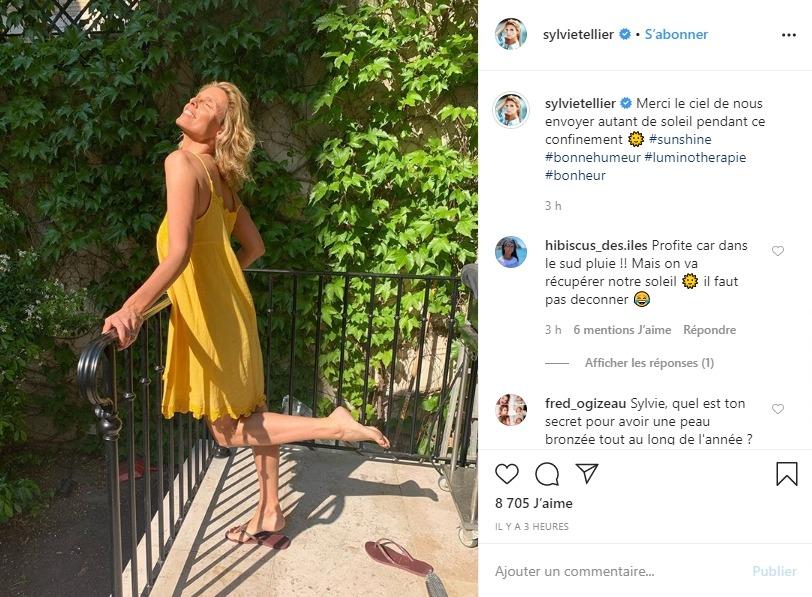 Sylvie Tellier sur Instagram