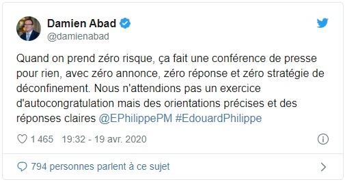 Tweet discours Edouard Philippe