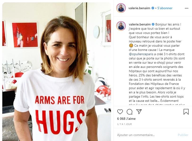 Valérie Bénaim sur Instagram