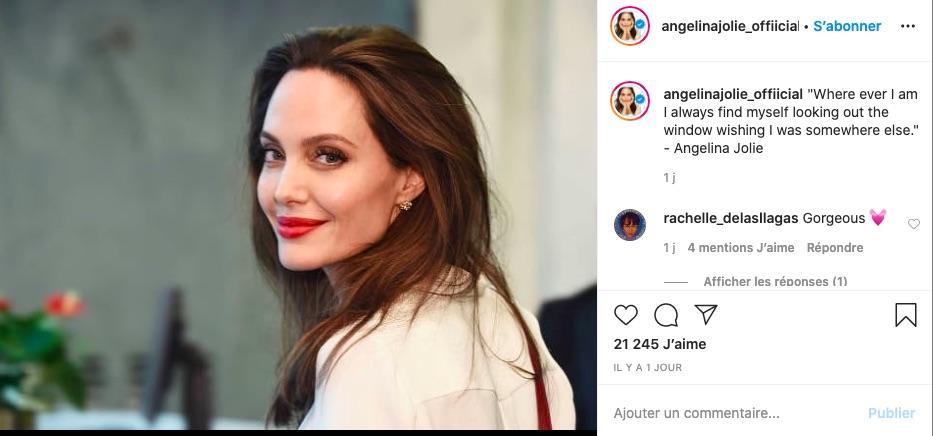 Angelina Jolie sur Instagram