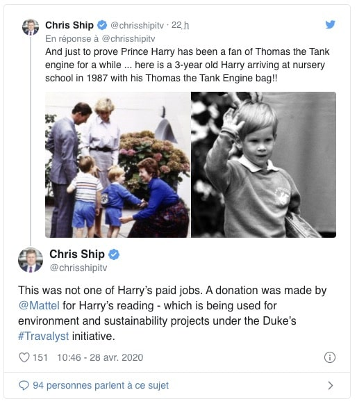 Chris Ship s'exprime à propos du prince Harry
