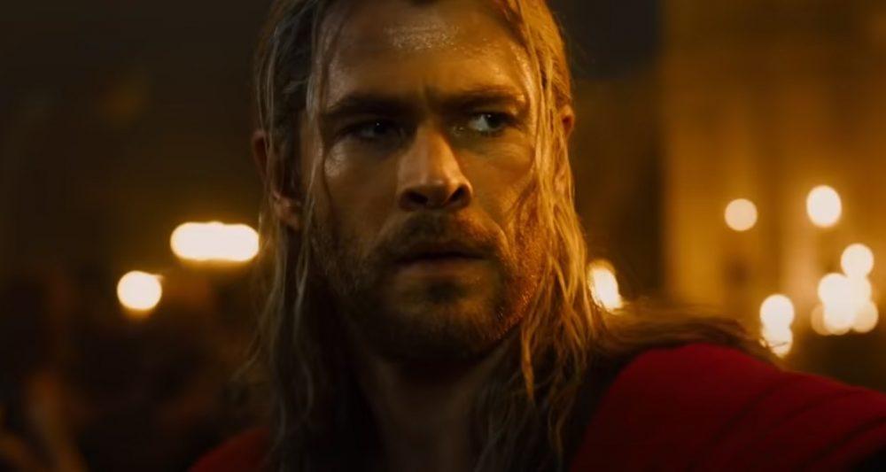 Chris Hemsworth dans son rôle de Thor, Dieu du Tonnerre