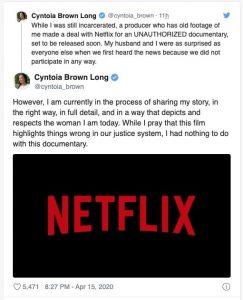 Cyntoia Brown Twitter
