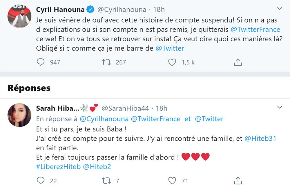 Cyril Hanouna menace Twitter de quitter le réseau social