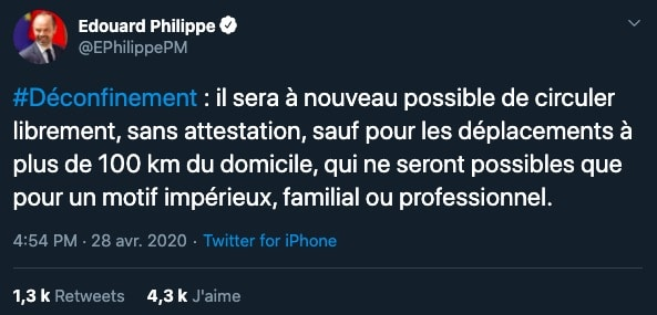 Edouard Philippe sur Twitter
