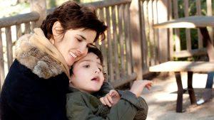 Eglantine Emeye et son fils Samy