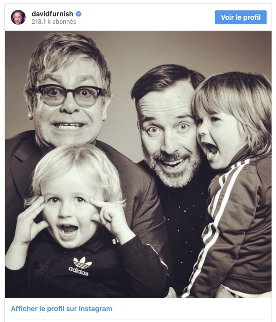 Elton John et ses enfants