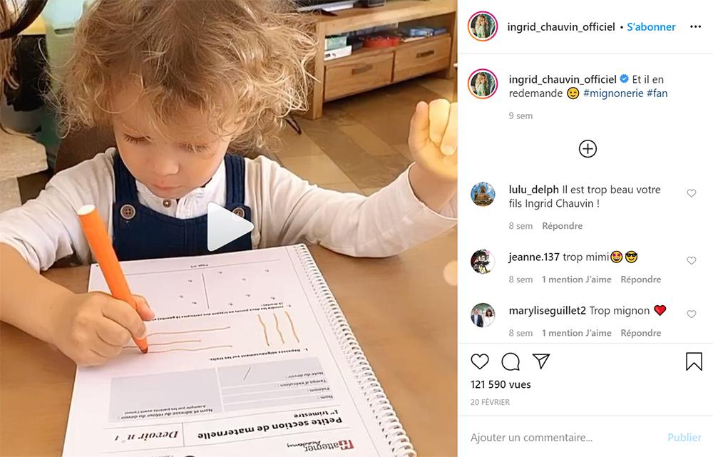 Ingrid Chauvin préfère que son fils étudie à la maison