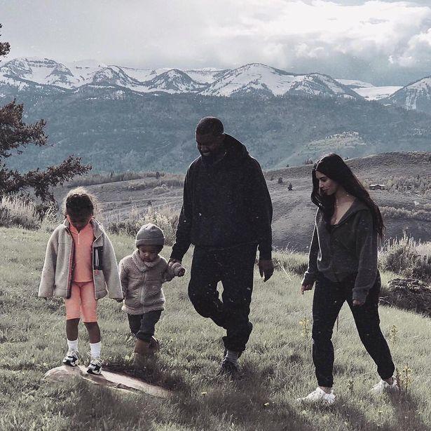 Kim Kardashian, Kanye West et leurs enfants