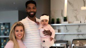 Kardashian et Thompson avec leur fille True