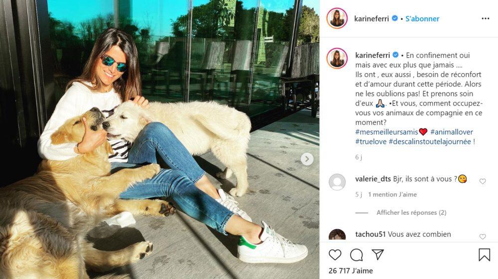 Karine Ferri est une amoureuse des animaux