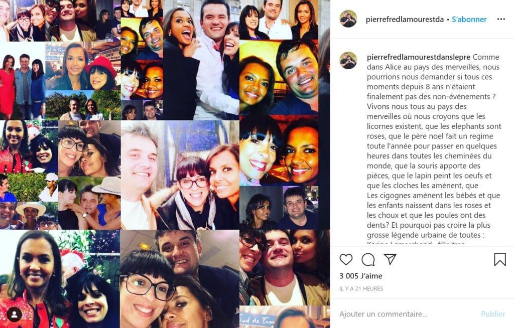 Pierre et Fred dédient un beau message à Karine Le Marchand sur Instagram