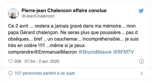 Pierre-Jean Chalençon son père est mort