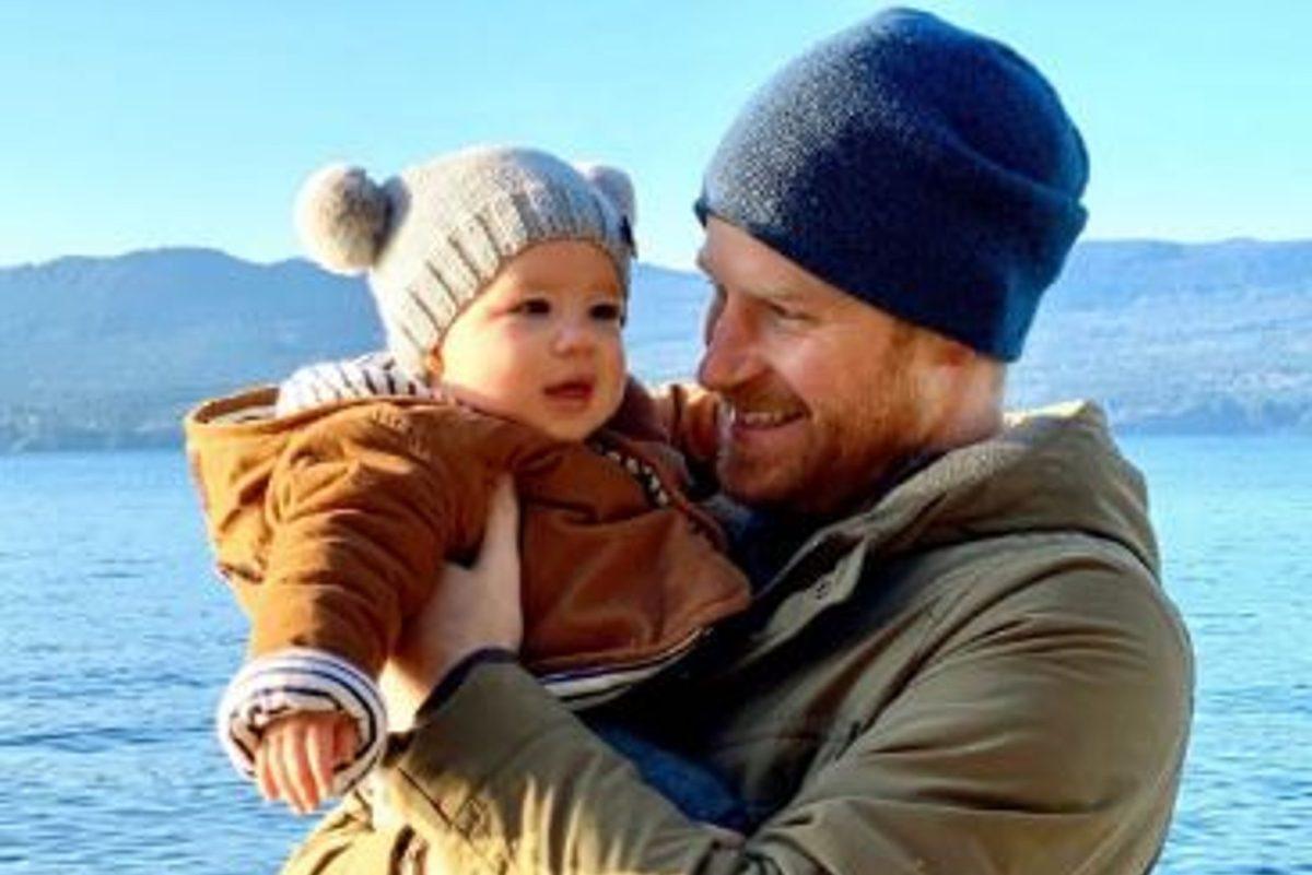 Le prince Harry avec son fils Archie