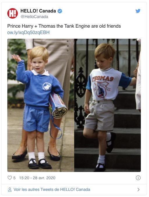 Hello Canada : le prince Harry portant des vêtements Thomas et ses amis