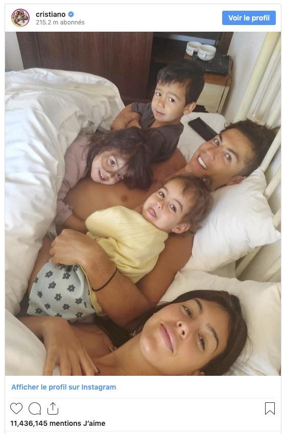 Cristiano Ronaldo et sa famille