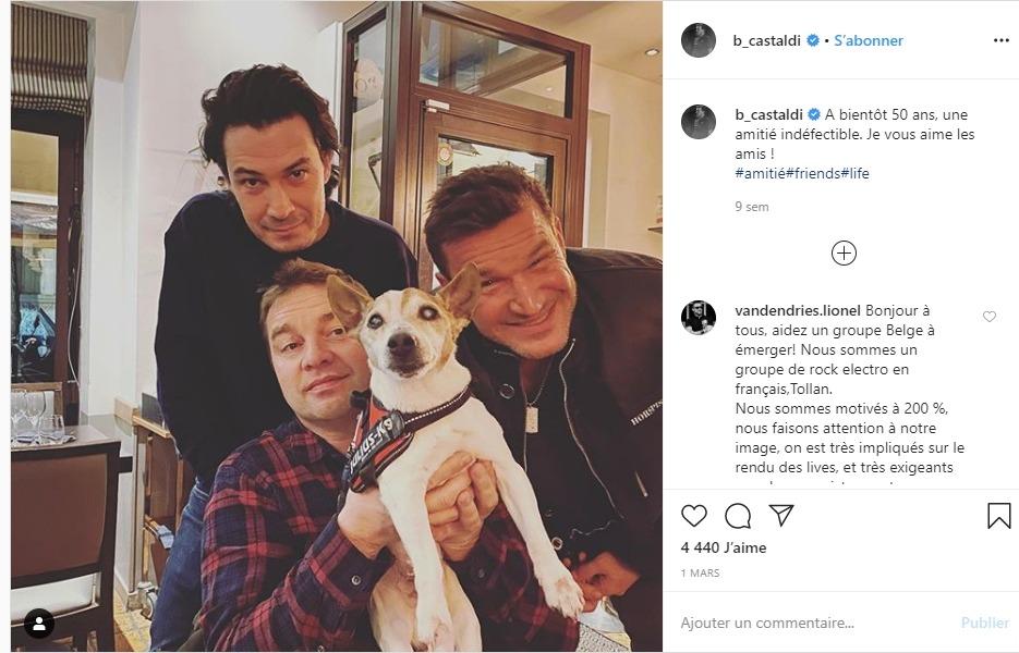 Benjamin Castaldi sur instagram