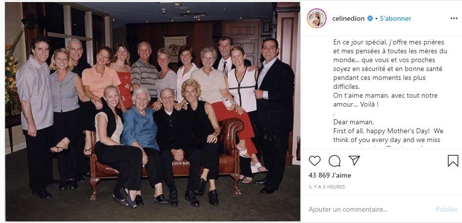 Céline Dion sur instagram
