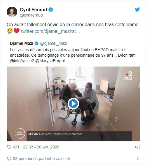 Cyril Féraud sur Twitter