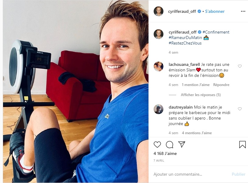 Cyril Féraud sur instagram
