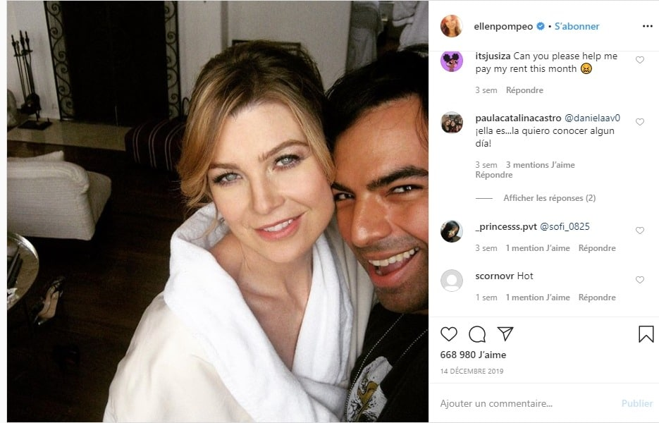 Ellen Pompeo sur instagram